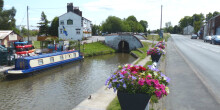 Boating through Middlewich