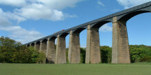 Pontcysyllte Aqueduct view from playing field