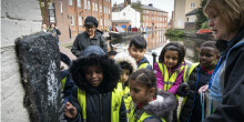 School children at Cambrian Wharf