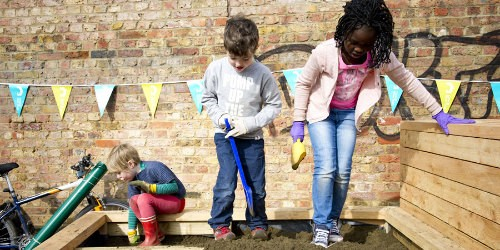 Planting a garden on the Regent's Canal