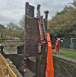 Lock gates on the Kennet & Avon Canal