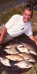 Terry Mansbridge with a catch of bream