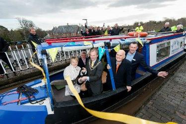 The re-opening of Nantwich Aqueduct