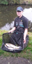 Samual Claydon, junior angling champion