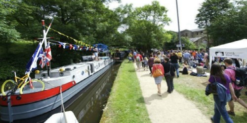 Festival fun by the canal