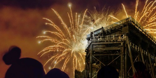 Fireworks over Anderton Boat Lift