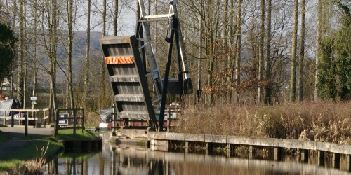 Croft Mill Lift Bridge by Peter Carr