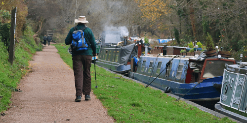 A healthy walk along the canal