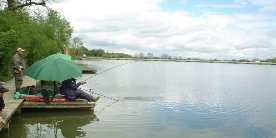 Angler at Drayton Reservoir