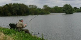 Angler at Naseby Reservoir