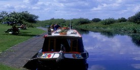 Boat moored on Selby Canal