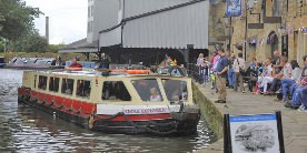 A trip boat at Burnley