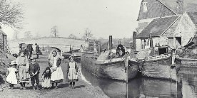 Boat family on the Grand Union Canal