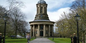 Church in park in Saltaire