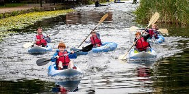 Canoeing on the Leeds & Liverpool Canal