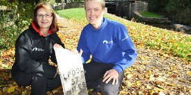 North West Waterway Manager, Chantelle Seaborn (left) and Bicentenary Project Manager Sarah Knight