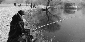Fishing in the winter