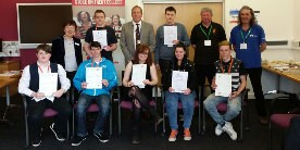 Stoke College students receive their award
