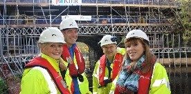 Angela Rayner MP visits Tame Aqueduct