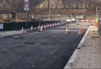 Carriageway binder course laid on road surface
