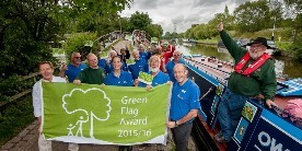 Macclesfield Canal green flag award winners