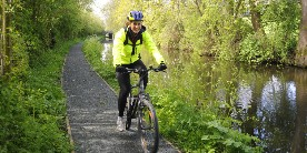 Cycling in hi vis clothing