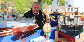 Graham and his model boats