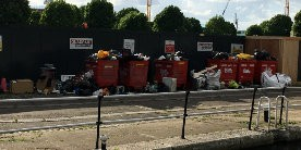 Overflowing boaters rubbish facilities in London