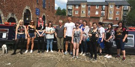 Bury students at Portland Basin