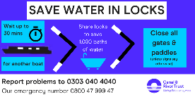 Save Water in Locks infographic