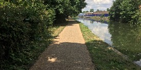 Towpath after improvements