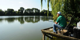 Fishing at Clattercote Reservoir