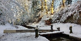 Shropshire Union in snow, courtesy of Terry O'Brien