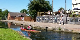 Paddling at Trent Lock, Erewash Canal