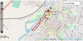 Newark walking route map