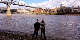 Paul and his colleague Iain on the Thames as part of an open event