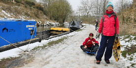 Sledging on the Kennet & Avon Canal