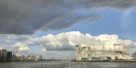 Rainbow over the River Thames