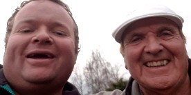 Bob Nudd and Let's Fish coach, Simon Mottram