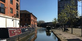 The city centre basin on the Coventry Canal