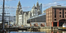 Pier Head near Albert Docks, Liverpool