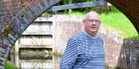 Paul, relaxing on his local canal