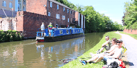 Fishing in the canal at Kidderminster