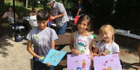 Children at Pocklington Canal Wildlife Family Event 2018