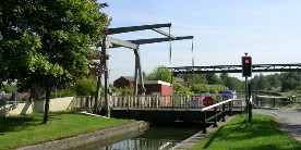 A bascule bridge on the Leigh branch of the Leeds & Liverpool Canal