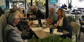 The Safe Harbour cafe: our regular memory cafe at the National Waterways Museum