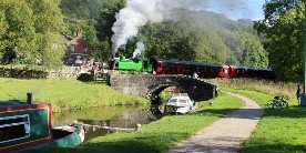 Steam's up at Consall Forge