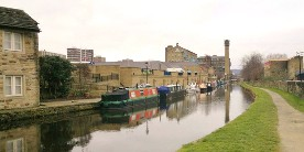 Huddersfield Broad Canal near the city centre, copyright Chris Morgan