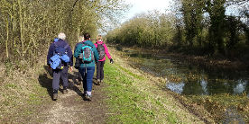 3 Mile Guided Walk on the Pocklington Canal in winter