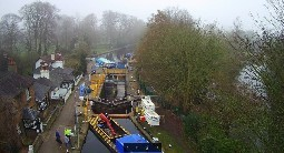 Cowley Lock aerial view